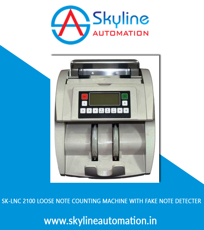 Sk-lnc 2100 Loose Note Counting Machine With Fake Note Detecter