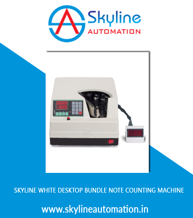 Skyline White Desktop Bundle Note Counting Machine