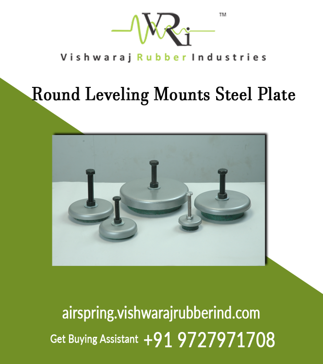 Round Leveling Mounts Steel Plate